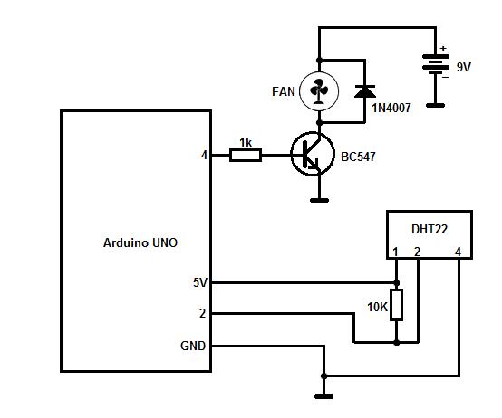 Схема подключения dht22