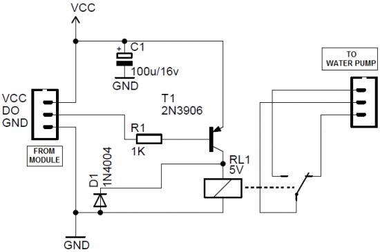 Схема использования датчика