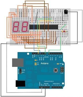 Arduino 7 Segment display tutorial en - Ardumotive