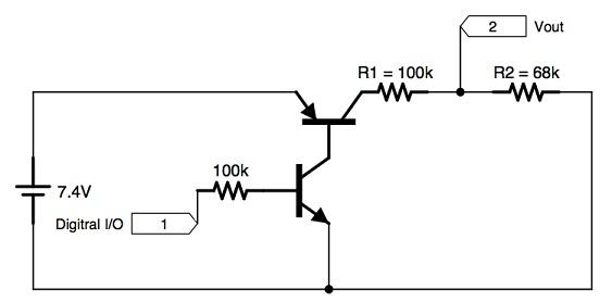 Делитель напряжения для измерения напряжения батареи