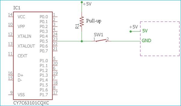Использование pull-up резистора