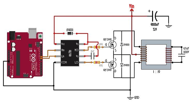 Синусоидальный инвертор на Arduino своими руками