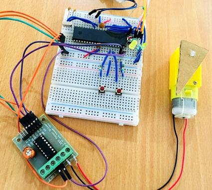Как управлять двигателем постоянного тока с помощью микроконтроллера AVR ATmega