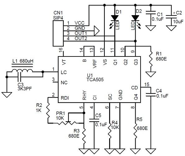 Индуктивный датчик приближения на основе TCA505 своими руками